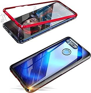 Alsoar Adsorción Magnética Funda Compatible con Huawei Nova 4 Estuche Vidrio Templado Transparente Trasera Cubierta Marco ...