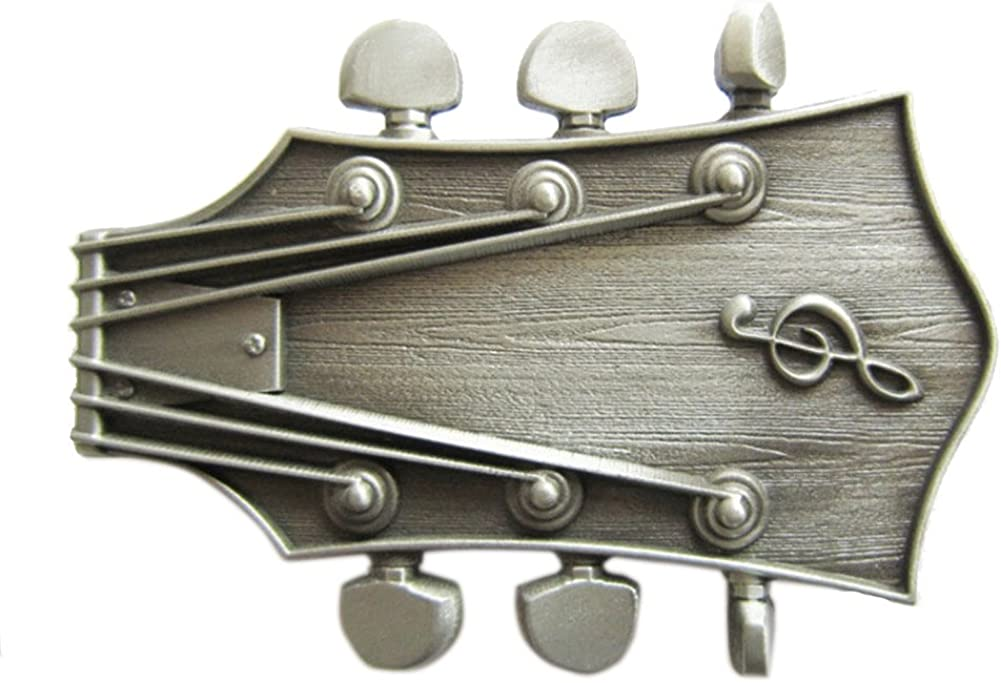 Vintage Style Guitar Music Belt Free shipping on posting reviews Buckle Choice in US the Stock also