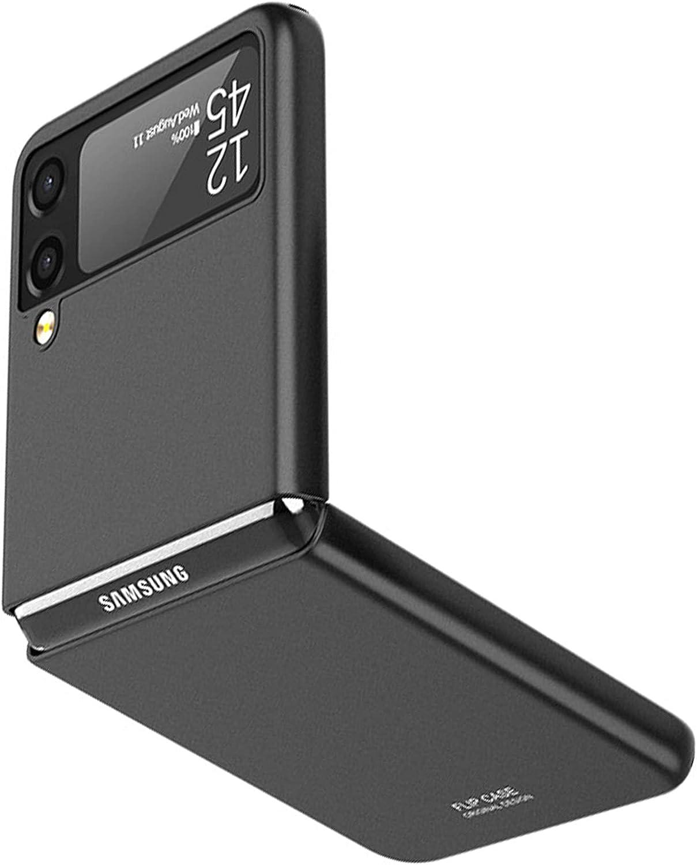 NINKI Thin Case for Samsung Galaxy Z Flip 3 Case 5g 2021 Black,Shockproof Lightweight Hard PC Case for Samsung Galaxy Z Flip 3 Case,Compatible Samsung Z Flip 3 5G Case Accessories Phone Case