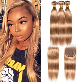27 honey blonde weave