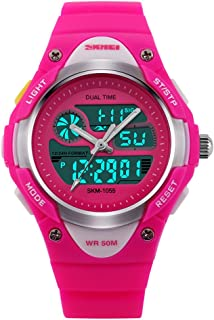 Kids Teens Girls Waterproof Sports Digital Watches w Alarm Stopwatch Colorful Luminous for Age 6-