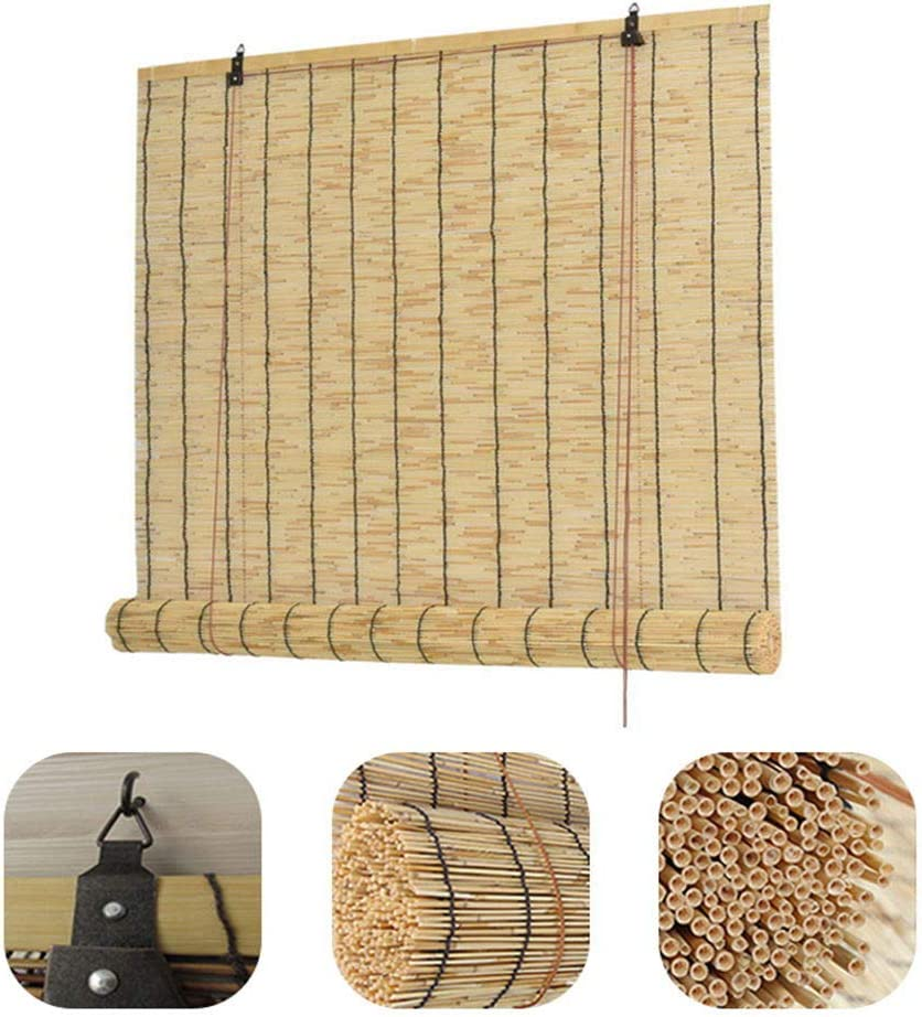 35% OFF Glopo Natural Bamboo Roll Up for Window Curtain Outdoor Cash special price Blinds