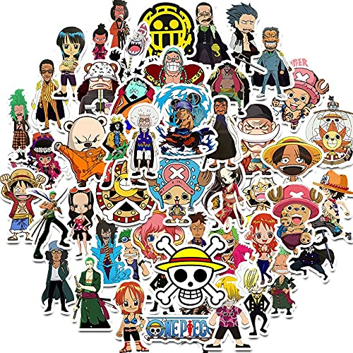 XINSHENG One Piece bauble 50pcs/pack ONE PIECE Japanese anime Lable Stickers For Furniture Wall Desk DIY Chair Toy Car Trunk Decal Guitar Motorcycle