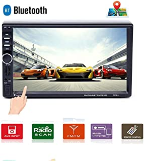 Car Stereo Double Din Car Radio Car Audio Multimedia Player GPS Navigation Bluetooth 7 Touchscreen Car Stereo MP5 Player, TF, USB, FM, Remote Control