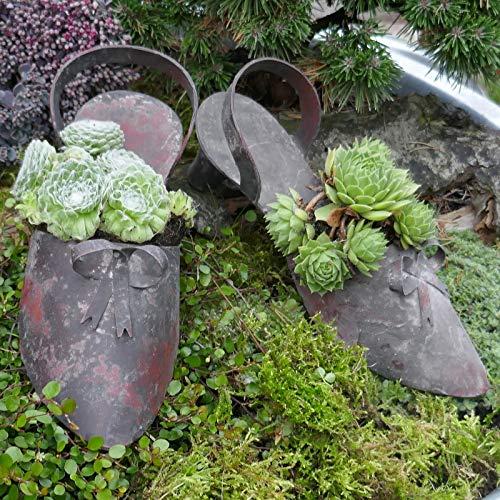 Gartenzaubereien Slingpumps Paar Dekoschuh Shabby rot
