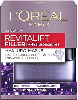 """L""""Oréal Paris Revitalift Filler Hyaluro-Maske, aufpolsternde Gel-Kapseln mit hochdosierter Hyaluronsäure, mildert Fältchen, für eine prallere Haut und entspannte Gesichtszüge, 50 ml"""