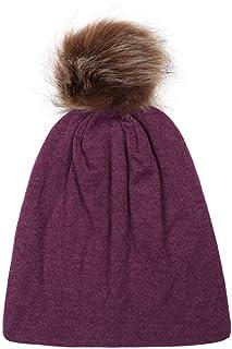 a68f2164d174f8 Naiflowers 0-5T Unisex Fashion Baby Cute Winter Warm Fur Ball Hemming Pom  Pom Beanies