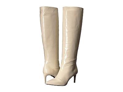 rag & bone Beha Knee High Boot (White Crinkle) Women