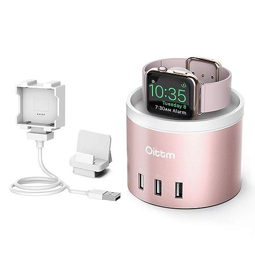 Oittm Apple Watch Series 3 Stand [3 in 1 Bracket Power Dock] 4-