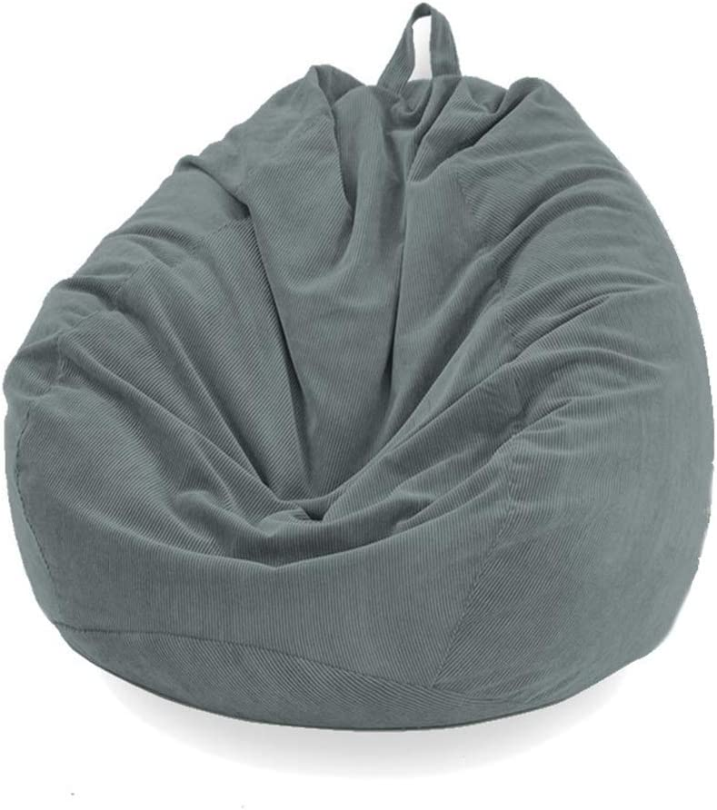 47x39 No Filler for Kids and Adults Stuffed Storage Bean Bag Chair Cover Extra Large Soft Premium Corduroy Beanbag Stuffed Animal Storage for Organizing Children Plush Toys