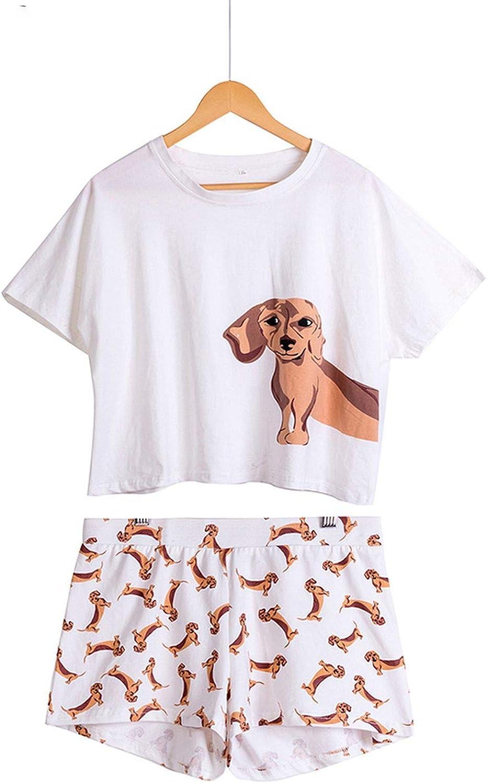 Conjunto de pijama para mujer con diseño de perro salchicha y ...