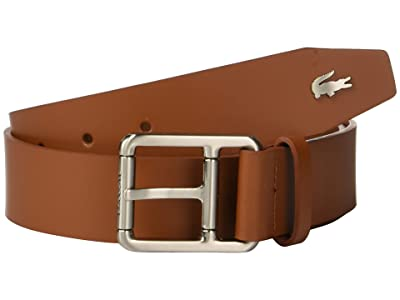 Lacoste Buckle Belt w/ Croc Detailing (White/Patisson/Woodpecker) Men