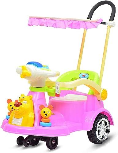 Kinder Twist Auto Universal Rad Yo Auto 1-3 Jahre alten Kinderwagen mit Leitplanke Roller Xuan - worth having (Farbe   Rosa)