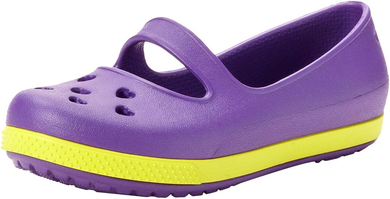 crocs 14828 CB Airy Hearts Sandal (Toddler/Little Kid),Neon Purple/Citrus,12 M US Little Kid