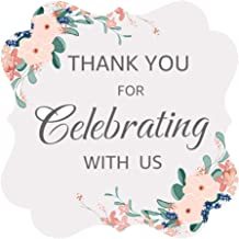 OPG Floral Garden Party Wedding Collection Adhesive Stickers,Decorative Stickers for Party Supplies,Thank You for Celebrat...