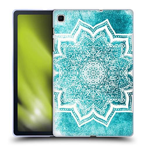 Head Case Designs Licenza Ufficiale Nika Martinez Fiori Menta Mare Mandala Cover in Morbido Gel Compatibile con Samsung Galaxy Tab S6 Lite