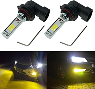 Calais Extremely Bright 9005 LED Fog Light Bulb Yellow 2000 Lumens High Power COB Chips 9005 HB3 LED Fog Lights Lamp Bulbs Replacement (Set of 2)