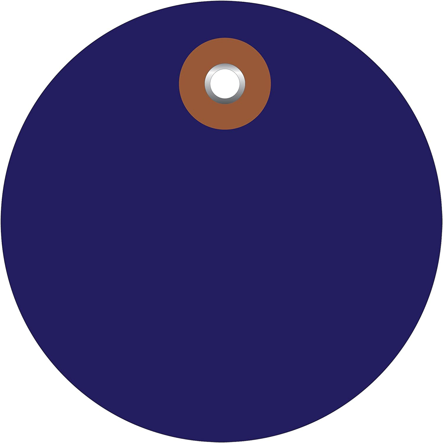 Plastic Circle Tags, Pre-Wired, 3