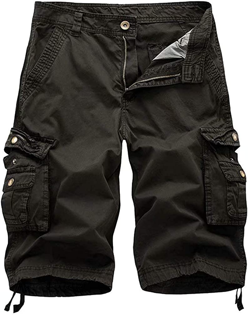 Wxian Men's Multi-Pocket Relaxed Fit Cargo Shorts