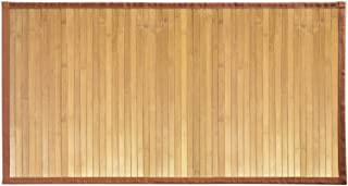 iDesign Formbu Bamboo Floor Mat Non-Skid, Water-Repellent Runner Rug for Bathroom, Kitchen, Entryway, Hallway, Office, Mud...