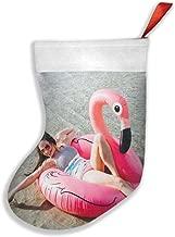 BCQJNB Flamingo Fever Christmas Stocking for Family Holiday Xmas Party Decorations