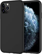 MoKo Compatible with iPhone 11 Pro Max Case, Shockproof Slim Liquid Silicone Gel Rubber Case Soft Touch Back Cover Fit Apple iPhone 11 Pro Max 6.5 inch 2019 - Black