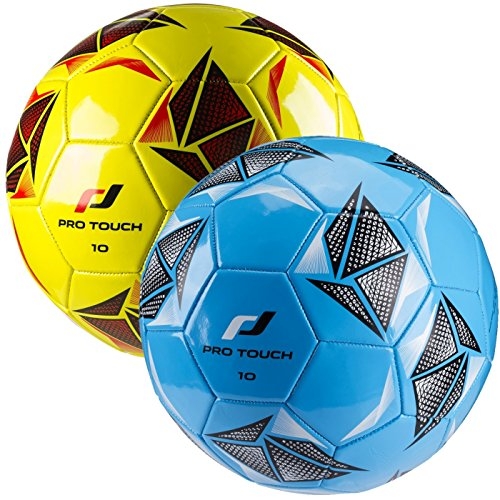 Pro Touch Force 10 - Balón de fútbol, Color Azul, Negro y Blanco