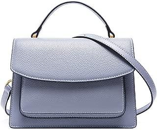Fashion Simple and Versatile Compact Bills Shoulder Slung Leather Handbags (Color : Purple)