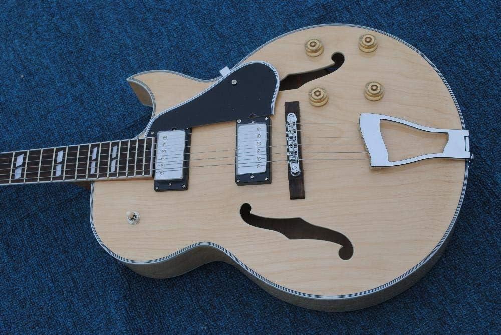 chushi Nueva Guitarra Eléctrica De Arce 175 De Jazz Guiar 175 Semi Hueco De La Guitarra De Jazz Zzib (Size : 39 Inches)