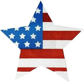 ニップルカバー× ニップレス シールブラ トップ星型 星条旗 2個で1セット