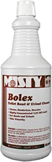 Bolex Toilet Bowl & Urinal Cleaner, Quart Bottle, 12 Bottles/Case