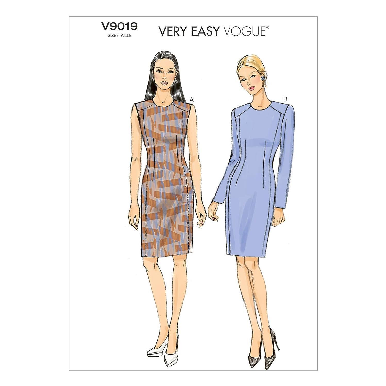 Vogue Patterns V9019 Misses'/Misses' Petite Dress Sewing Template, Size E5 (14-16-18-20-22)