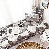 Alfombra de algodón suave para ventana de bahía, antideslizante, alfombrilla de tatami para cuatro estaciones, para sofá, cama, balcón, alféizar de ventana, lavable a máquina-90 x 210 cm
