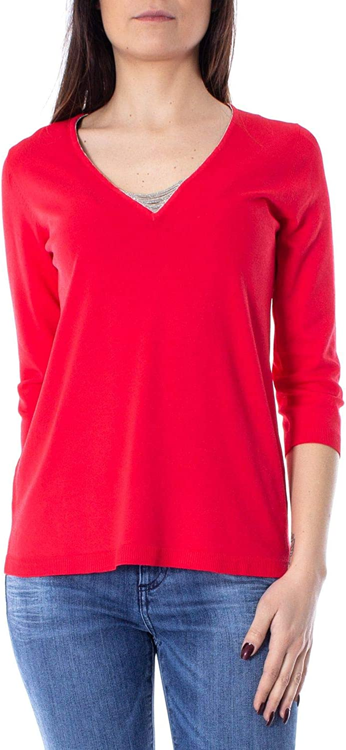 Anis Collection Milano Women's 931185RED Red Viscose Jumper