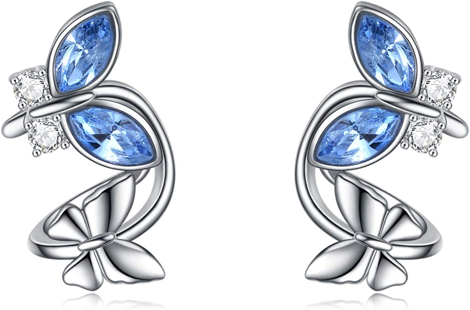 AOBOCO Phoenix Mall Sterling Silver Cuff Earrings Non Pierced Ears sold out Cryst for