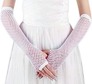 NUNOFOG Pink Ribbon Flag Unisex Summer Arm Cover Sleeves Long Fingerless Sun-proof Anti-UV Long Gloves For Outdoor
