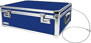 Vaultz Locking Storage Chest/Dorm Storage with Combination Locks, 6.5 x 19 x 13.5 Inches, Blue (VZ00167)