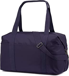 ZOOEASS Waterproof Large Duffle Bag Lightweight,Overnight Carry On Bag,Beach Bag, Gym Bag,Sports Bag Foldable for Men Women (Purple)