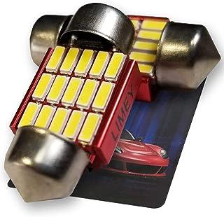 LIMEY T10 LED ルームランプ 28mm ホワイト白 爆光 15連 6000k 1.6W 無極性 キャンセラー 室内灯 車内灯 ルームライト 2個入
