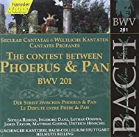 Bach: Secular Cantatas - The Contest Between Phoebus and Pan, BWV 201 (Edition Bachakademie Vol 61) /Rilling by Helmuth Rilling (1999-06-09)