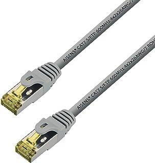 AISENS - A146-0337 Cable de Red latiguillo RJ45 LSZH Cat.7 600 MHz s/FTP pimf awg26, Gris, 5.0m