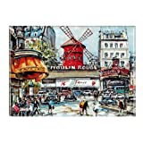 Souvenirs of France - Moulin Rouge Metal Magnet 3.54 x 2.56in by Souvenirs of Paris