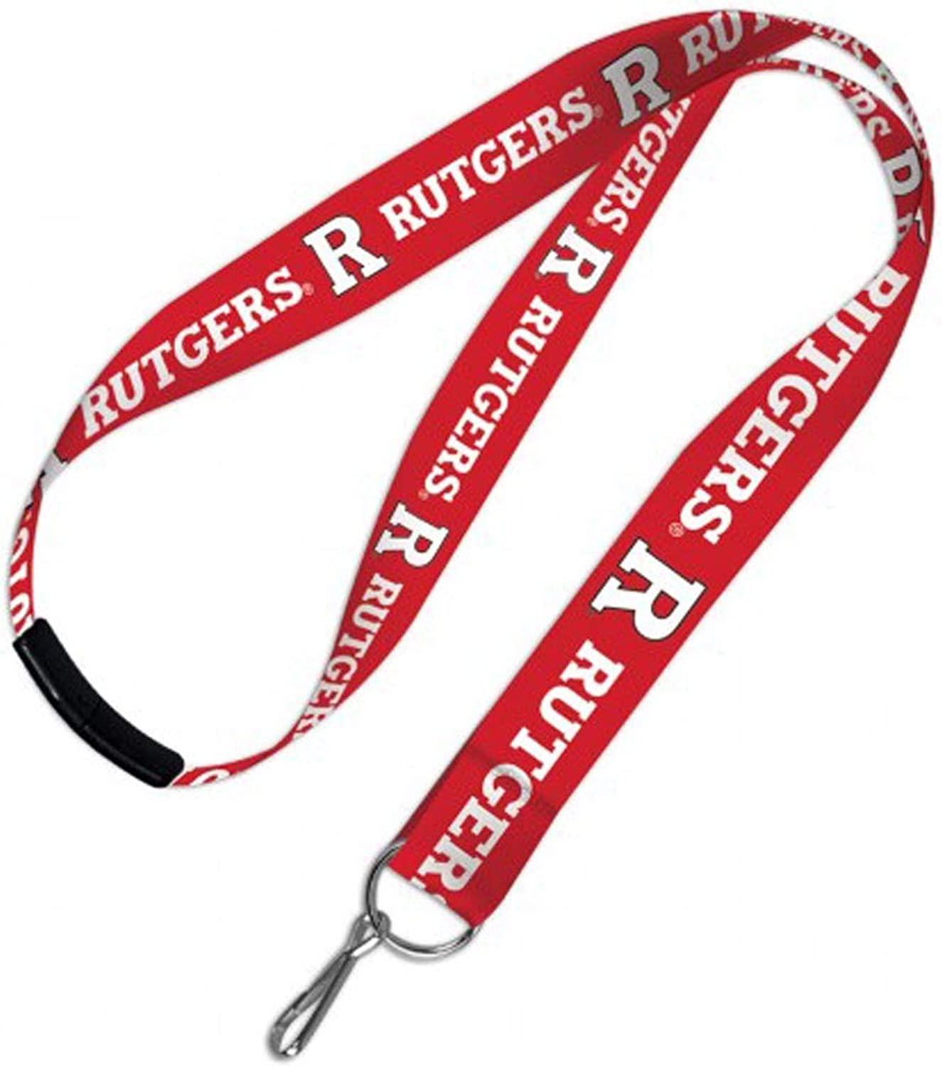 Rutgers Lanyard Id Holder with Safety Breakaway Clasp, 19 inches Long, 1 inch Wide