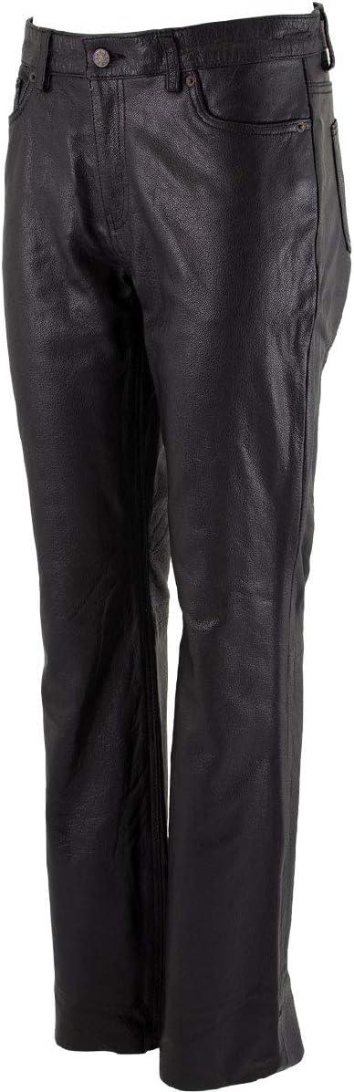 Xelement XS679 Ladies 'Nubile' Classic Black Buffalo Leather Pants - 6
