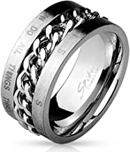 T5 Philippians 4:13 Wedding Band Mens Ring Christian Scripture I Can Do All Things