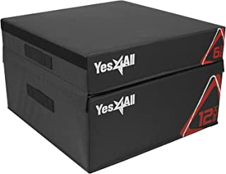 Yes4All Adjustable Soft Plyo Box – Available in 6, 12, 18 and 24-inch Box Sizes