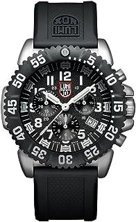 ساعة لومينكس نافي سيل كرونوغراف مينا سوداء للرجال 3181