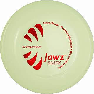 Hyperflite Jawz Pup World Toughest Competition Dog Disc Puncture Resistant Frisbee 7 Inch Glow In The Dark