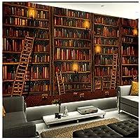 Wkxzz 壁の背景装飾画 カスタマイズされた大壁画家壁画装飾画壁紙本棚本棚背景壁壁紙-120X100Cm