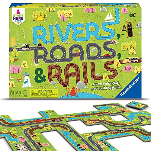 Product Image of the Ravensburger Rivers, Roads And Rails - Children's Game